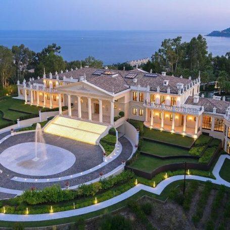 Villas van de rich en famous in zuid-Frankrijk