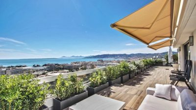 Unique penthouse with 200 m² terrace and miles of views, in Juan-les-Pins