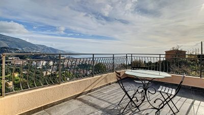 APARTMENT FOR SALE IN MENTON - PANORAMIC SEA VIEWS