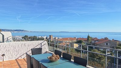 Semi-detached villa, sea views, close to old village La Napoule