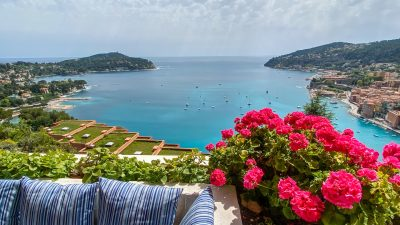 VILLEFRANCHE SUR MER 3 ROOMS TERRACE PANORAMIC SEA VIEW